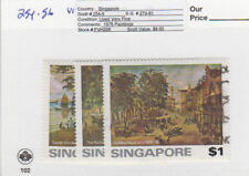 Singapore - 1976 Paintings Set. Sc. #254-6, SG #279-81. Used