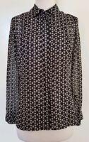VERONIKA MAINE Black/Greys Blouse/Shirt Size 6