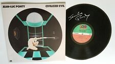 Jean-Luc Ponty REAL hand SIGNED Civilized Evil vinyl record COA Autographed