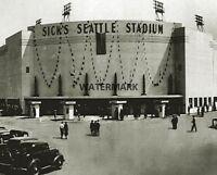 1940 Sick's Seattle Stadium Front Entrance View Black & White 8 X 10 Photo