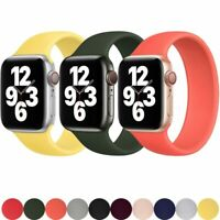 Solo Bracelet Loop for Apple Watch band iWatch 6 5 4 3 2 SE Sport Silicone Strap