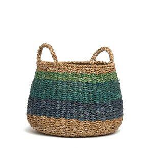 Indoor Storage Planter Basket   100% Seagrass Handmade Harlem   Indoor Use Only