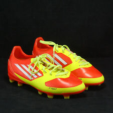 Men's ADIDAS F-50 Adizero TRX FG Cleats Soccer Boots Red Yellow Size 4.5 US