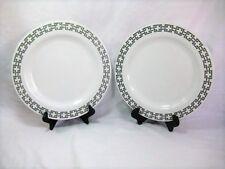 "Williams Sonoma Melamine Link 13"" Dinner Charger Plates Set Of 2 White Gray Grey"