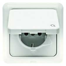 BERKER 4718 Schuko Outlet Hinged cover and frame uP IP44 cream white
