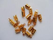 15pz coprinodo terminale in ottone 10x5mm nikel free colore oro