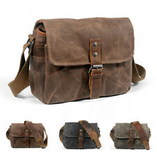 Retro Canvas leather Waterproof DSLR Camera Case Bag Photography bags for Canon