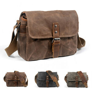 Retro Canvas leather Waterproof DSLR Camera Case Bag Photography bags for Nikon