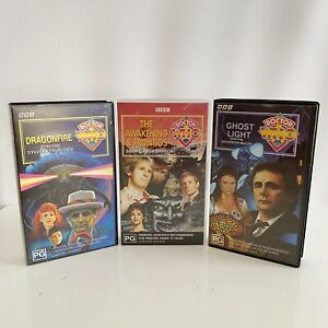 3 x Doctor Who Dragonfire Ghost Light Awakening Frontios VHS Bundle Lot