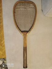 ANTIQUE,1900,WOOD RACKET SLAZENGER DOHERTY,PATENT,ORIGINAL STRING