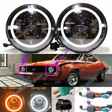 For Chevrolet Camaro LED Headlight 7'Inch Round Projector DRL Lights H4-H13 120W