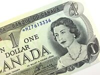 1973 Canada 1 One Dollar Uncirculated MZ Replacement Lawson Bouey Banknote R293