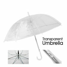 Clear Umbrella Handle Transparent Dome See Through Walking Umbrella