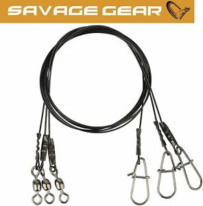 Savage Gear Black 7 Wire Trace 3pcs per pack Perch Pike Lure Fishing crazy price