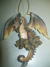 New Dragon ornament - brown/yellow - Nice - For Dragon lovers - New