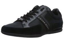 Hugo Boss мужские повседневные полуботинки кожаные и текстильные кроссовки spacit 50247632 черный