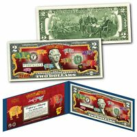 2019 CNY Lunar Chinese New YEAR OF THE PIG Polychromatic 8 Pigs $2 U.S Bill BLUE
