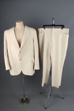 Vtg Mens 1970s Trego's Western Polyester Suit Xl Jacket 48 L Pants 40x28.5 70s