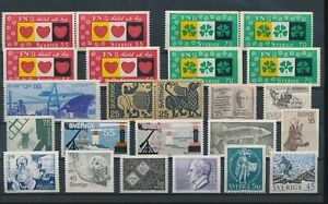 LN72165 Sweden mixed thematics nice lot of good stamps MNH