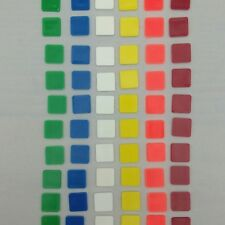 Rubiks Brain Game Replacement Pieces Ideal No 22830 1983 CBS Toys Plastic Tiles