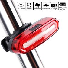 rear USB rechargeable cob led red light - lights bright lamp 6 modes tail UK