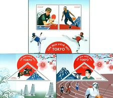 TOKYO 2020 SUMMER OLYMPICS NEW DATE IN 2021 PING PONG BASKETBALL MNH STAMPS SET