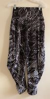 NWOT ISSEY MIYAKE Stretchy Jersey Pants Trousers   Size 2   Black/White/Gray