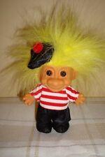 "6"" RUSS 1992 Trolls Around the World Lucky Troll Doll France  #18467 Yellow hair"