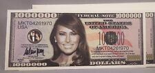 WHOLESALE LOT OF 100  FIRST LADY MELANIA TRUMP FAKE MILLION DOLLAR BILLS MONEY U