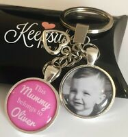 Personalised Photo Keyring Colour - Belongs to - Birthday Present Christmas Box