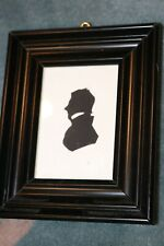 Vintage Small Sized Silhouette Framed Portrait Victorian Profile Picture