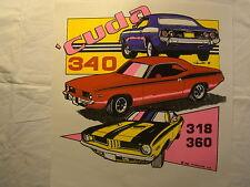"Cuda 340 360 Red Purple Yellow 11"" X 12"" T Shirt Iron On Heat Thermal Transfer"
