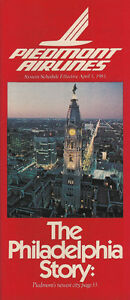 Piedmont Airlines system timetable 4/1/81 [308PI] Buy 4+ save 25%