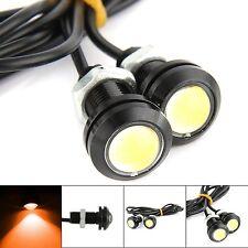 2x Yellow DC12V 15W Eagle Eye LED Daytime Running DRL Backup Light Car Auto Lamp
