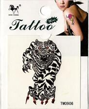 Temporary Tattoo Tiger Attacking Removable Body Art TM0906