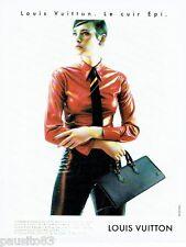 PUBLICITE ADVERTISING  116  1997   Louis Vuitton sacs bagages  Cuir épi