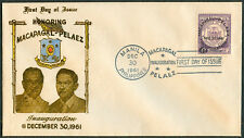 1961 Philippines MACAPAGAL-PALAEZ INAUGURATION First Day Cover - D