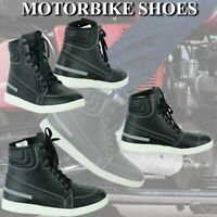 Motorcycle Boots Motorbike Sneaker Shoes Touring Boot Leather Waterproof Black