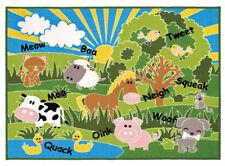 Playtime Farm Animals Multi Coloured Childrens Non Slip Playmat 100cm x 130cm