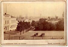 Malmö Sweden,fine view  ALBUMEN ca. 1880 Photographer Shärengrad fotografie RARE