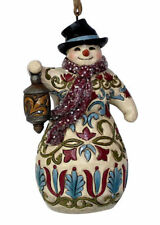 Jim Shore New 2018 VICTORIAN SNOWMAN WITH LANTERN HANGING ORNAMENT 6001433