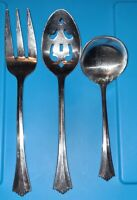 "Lot of 3 Rogers Stainless Steel ""Triumph"" Silverware Flatware, Stanley Roberts"