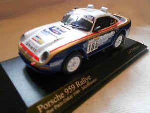 RARE Porsche 959 #185 Ickx Rothmans Dakar 1986 1:43 Minichamps-RSR
