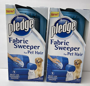 2x Pledge Fabric Sweeper for Pet Hair Multi-Use Disposable NEW discontinued HTF