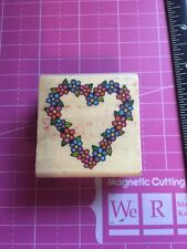 Flower Heart Rubber Stamp By CRI