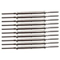 """10PC Lag Screw Turnbuckle Hand Swage Tensioner for 1/8"""" Cable Railing T316 Lots"""