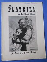February 25 - 1957 - Booth Theatre Playbill - Visit To A Small Planet