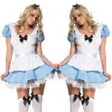 Alice In Wonderland Party Cosplay Costume Anime Maid Uniform Lolita Dress