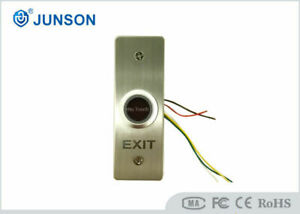 Touchless RF Infrared Sensor NO Touch Exit Release Button Switch Back LED Light