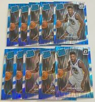 2017-18 Donruss Optic #163 JORDAN BELL ROOKIE Shock Prizm CAVALIERS LOT (10)